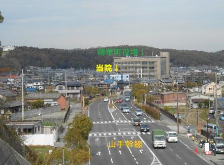 南向きは奈良市、生駒市、木津川市へ。北向きは京田辺市、城陽市、久御山町へ。