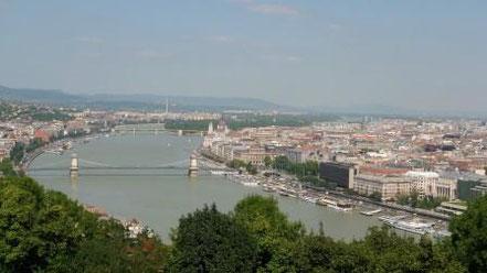 Blick von der Zitadella auf Budapest