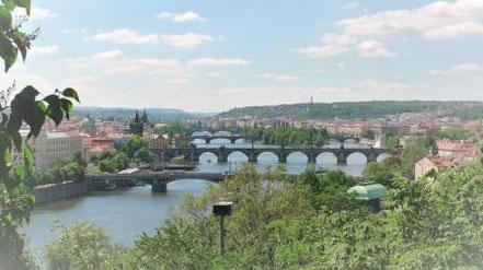 Aussicht auf Prag und die Moldau