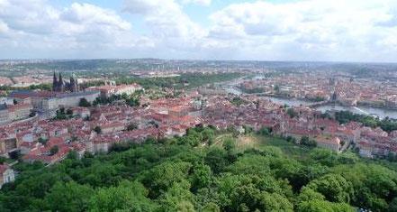 Blick vom Petrin auf Prag