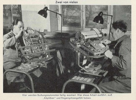 Montage Kienzle-Buchungsmaschinen (aus Kienzle Blätter 8/1952)