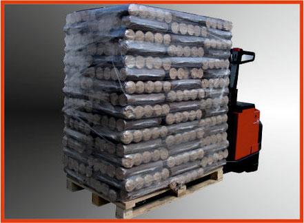 Bild: Holzbriketts aus reinen Buchenspänen