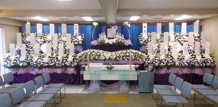 和光市民葬儀の生花祭壇・