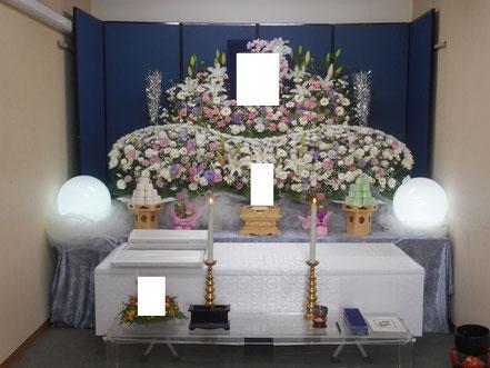 生花祭壇に