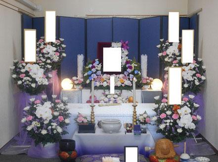 区民葬儀C券の祭壇