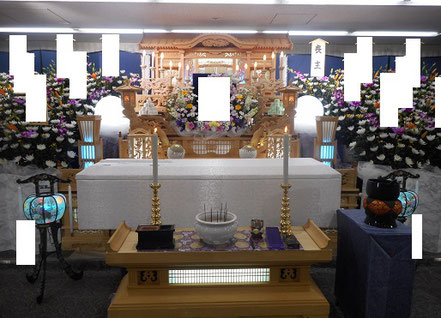 志木市民葬儀の祭壇