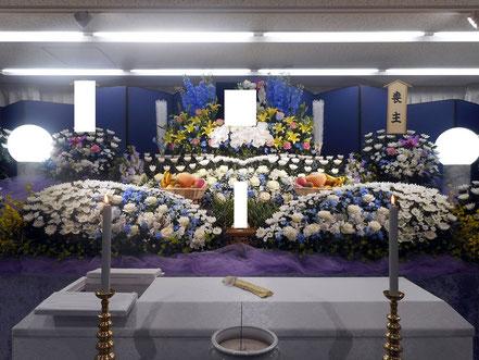 家族葬こみこみ60の生花祭壇