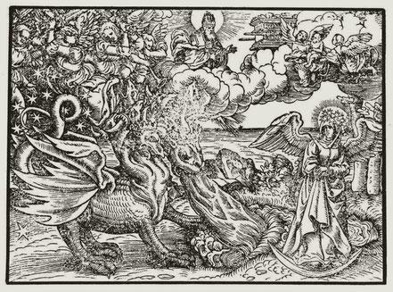 Monogrammist MS. Die siebente Posaune. Lutherbibel 1534 Holzschnitt Nr. 118