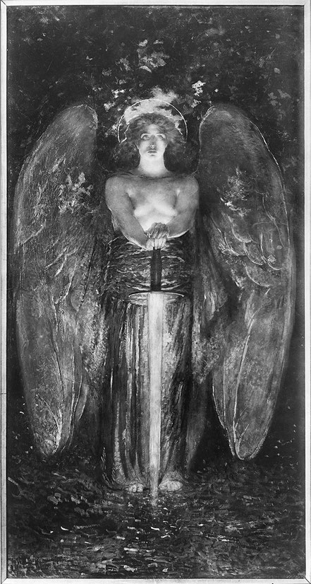 BLASHFIELD The Angel with the Flaming Sword. 1891. NYC Church of the Ascension