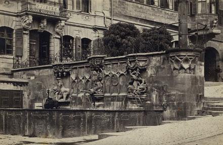 Ansicht des Brunnens von 1907 (StadtA Schwäb. Hall FS 11503)
