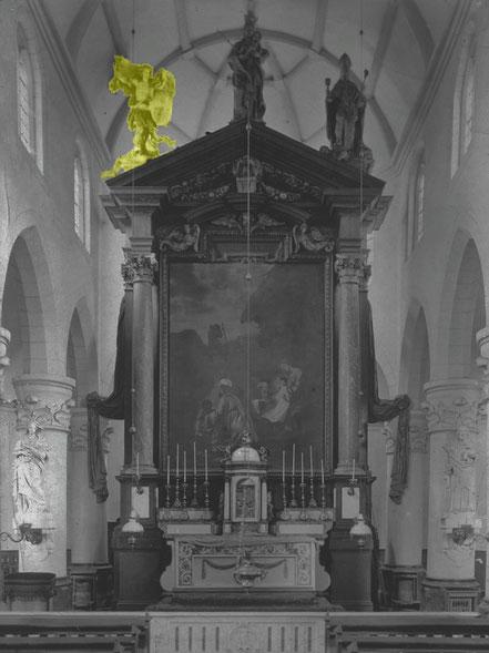 Antwerpen, Abteikirche St. Michael, Hochaltaraufbau, abgetragen 1796/97— Rijksdienst voor het Cultureel Erfgoed, Photo: G. Th. Delemarre