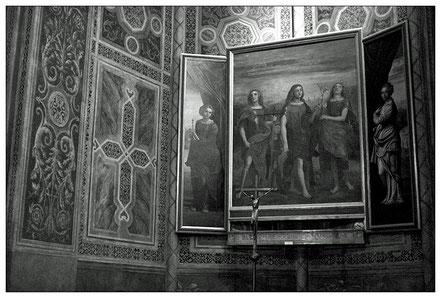 Foto Giuliano Monterosso: CAROTO Tre arcangeli. Kopie nach dem Original im Museo di Castelvecchio in der Chiesa di S. Eufemia zu Verona