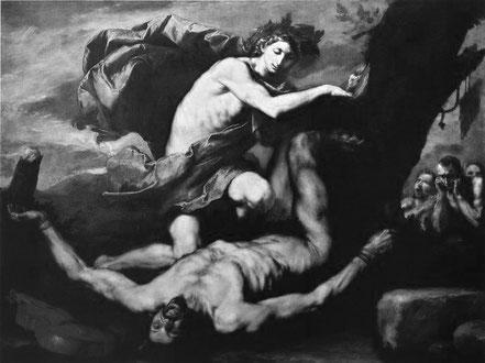 Jusepe de Ribera 1591–1652 Apollo und Marsyas. 1637. Öl auf Lw. Neapel, Museo Nazionale di Capodimonte
