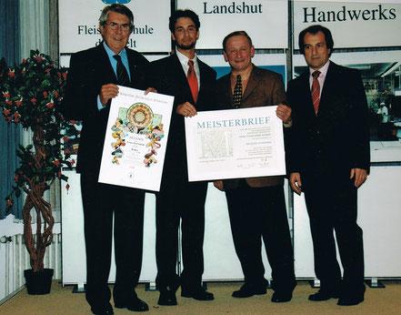 Übergabe des Meisterbriefs in Landshut