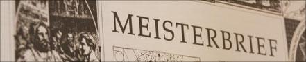 Meisterbrief Franz-Josef Schedl
