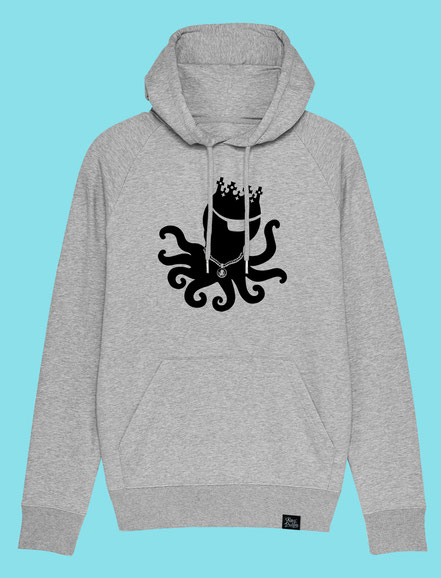 King Pulpo Silhouette - Men's hooded Sweatshirt