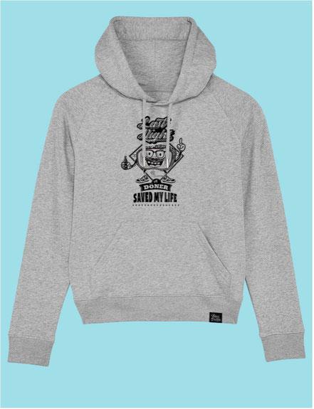 Döner Saved My Life- Men's Hooded Sweatshirt