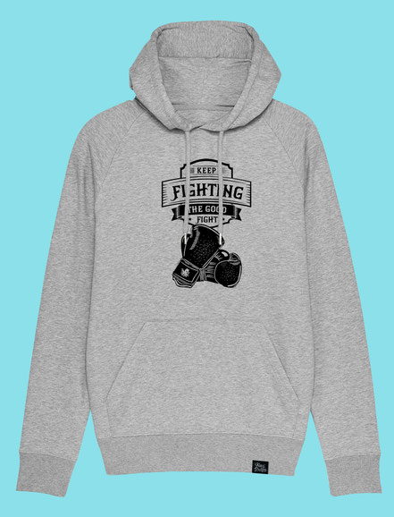 Keep Fighting - Men's/Unisex hooded Sweatshirt