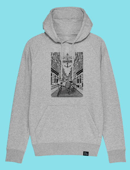 Beckstrasse- Men's hooded Sweatshirt