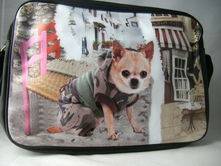 Umhängetasche Chihuahua Motiv , Hundetasche Chihuahua,Chihuahuamantel