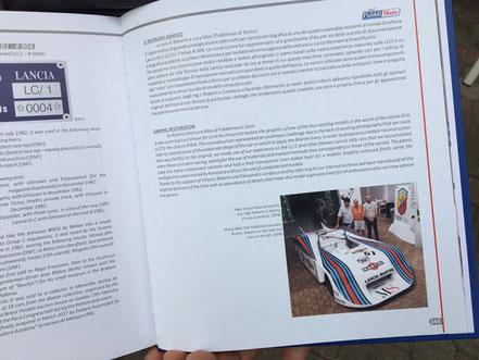 rc books libro su lancia lc1 di vittorio roberti e grafica martini racing eseguita in vernice da pubblimais torino
