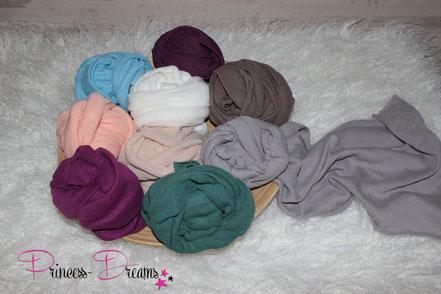 wunderschöne Wraps,Tücher bestens geeigent für die Newborn-Babyfotografie  zum Pucken, Einwickeln, Drüberlegen, oder als Hintergrund u.v.m. Neugeborenes Baby Neugeborenen Wollwrap Wrapping Pucken stretchy Tuch