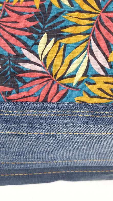 tote bag réversible, jean, coton, vlslc, vallaosurlacolline, val lao sur la colline