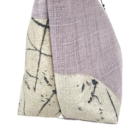 pochette zippée lilas doré argenté, vlslc, vallaosurlacolline, val lao sur la colline