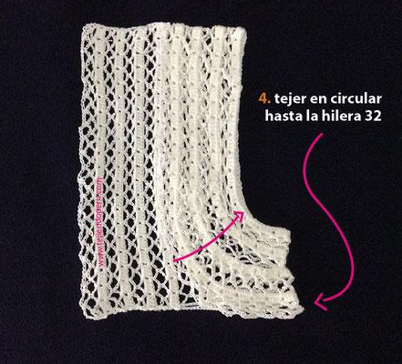 Tutorial: bolero romántico tejido a crochet con lana e hilo de algodón