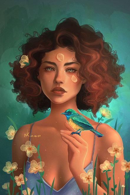Noemi Kramer Amimik digital painting Mona Tougaard