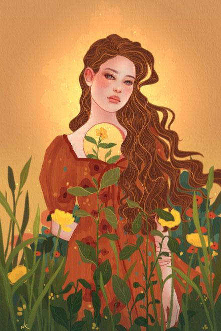 Noemi Kramer Amimik  digital painting Lavender