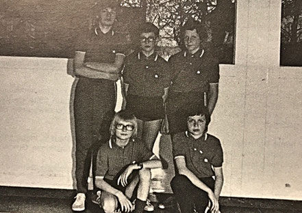 Schülermannschaft 1973 | Joachim Bohnert, Michael Welsch, Jürgen Hescheler | (vorn) Wolfgang Wagner, Thomas Bohnert