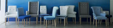 Enfilade de Fauteuils et sièges de style scandinave