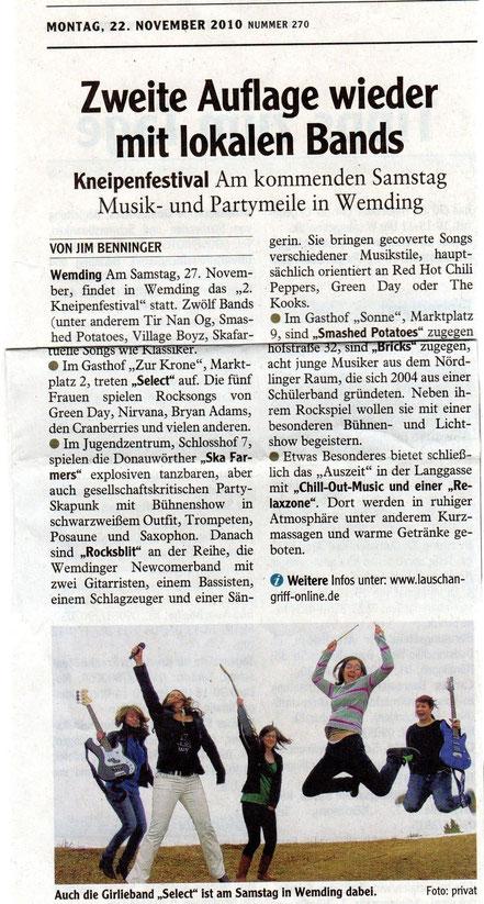 (Rieser Nachrichten, November 2010)