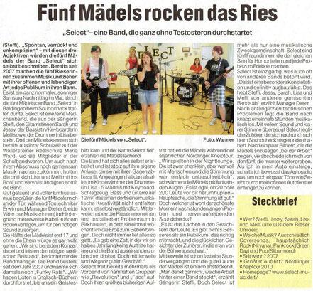 (Wochenzeitung, Mai 2010)