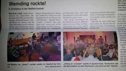 (Wochenzeitung, 15.10.2014)