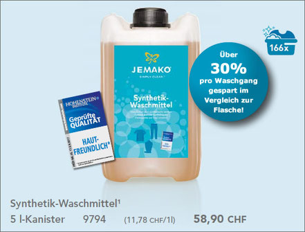 JEMAKO  Synthetik-Waschmittel in 2- oder 5 l-Kanister