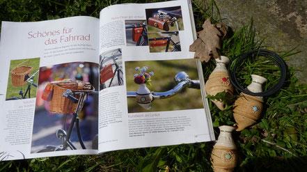 Fahrradvase zeitschrift landlust magazin wendland
