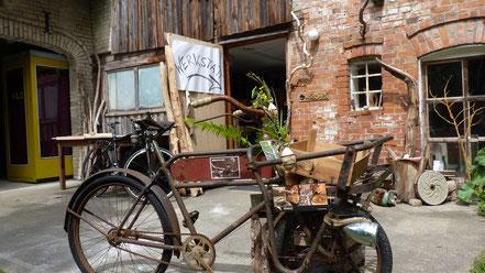Fahrrad Vasen  Lastenrad Werkstatt töpferei wöckworx