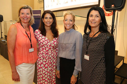 Women Leadership Forum 2015_Anett Hanck, HEUTE; Mag. Sonja Kato, unicato communications, H.E. Alexa Wesner, US Ambassador; Mag. Renate Altenhofer, maX iconvienna