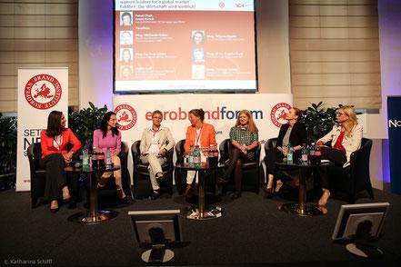 Women Leadership Forum 2014_Corinne Gabler, Tatjana Oppitz, Brigitte Bach, Anett Hanck, Michaela Huber, Corinna Tinkler