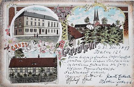 Litho Lithographie Greifenhain Frohburg Kohrener Land