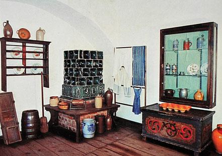 AK DDR Museum Burg Gnandstein Kohrener Keramik