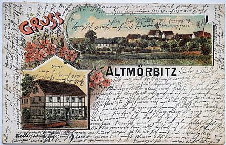 Litho Lithographie Altmörbitz Kohrener Land
