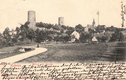 AK alte Kohren Kohren-Sahlis Ruine Kirche