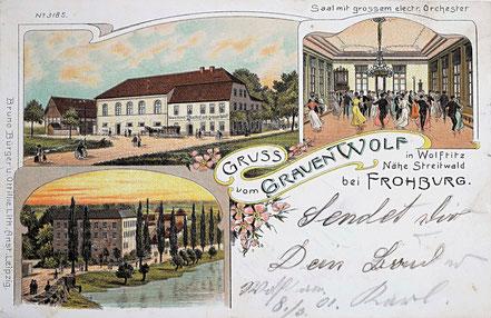 Litho Lithographie Wolftitz Frohburg Kohrener Land