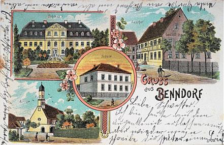 Litho Lithographie Benndorf Frohburg Kohrener Land