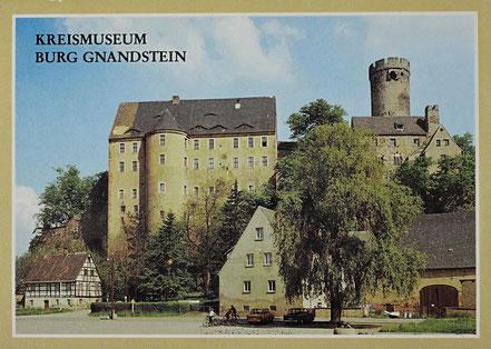 AK DDR Museum Burg Gnandstein Bildmappe