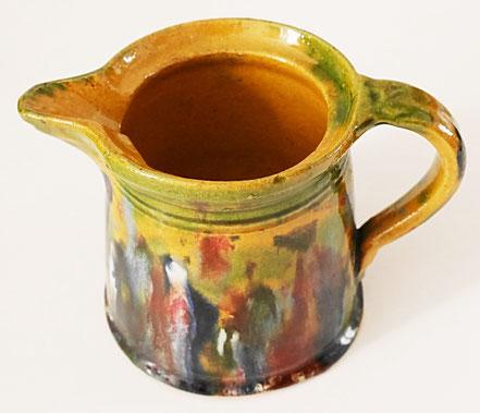alte Kohrener Keramik Kohren-Sahlis Laufglasur