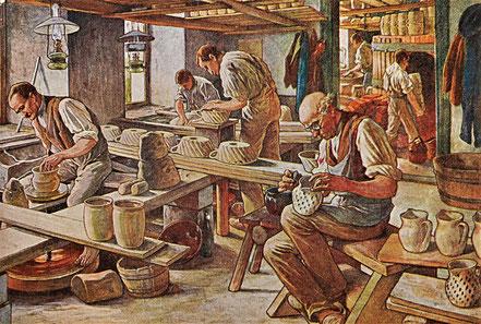 AK Meinholds Handwerkerbild Lehrkarte
